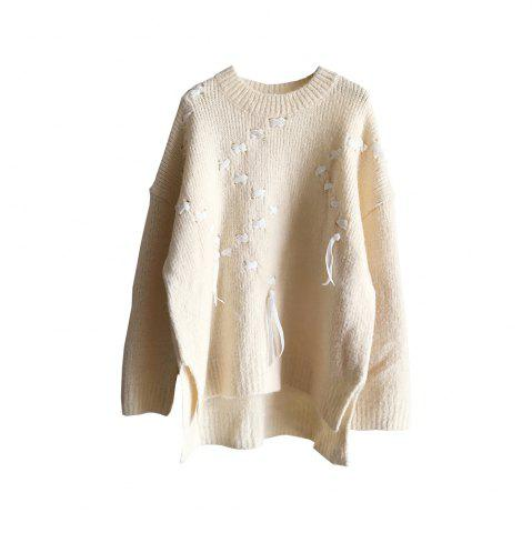 Online New Winter  Sweet Lady Silk Bandwidth Thin and Thick Base Wool Knit Sweater