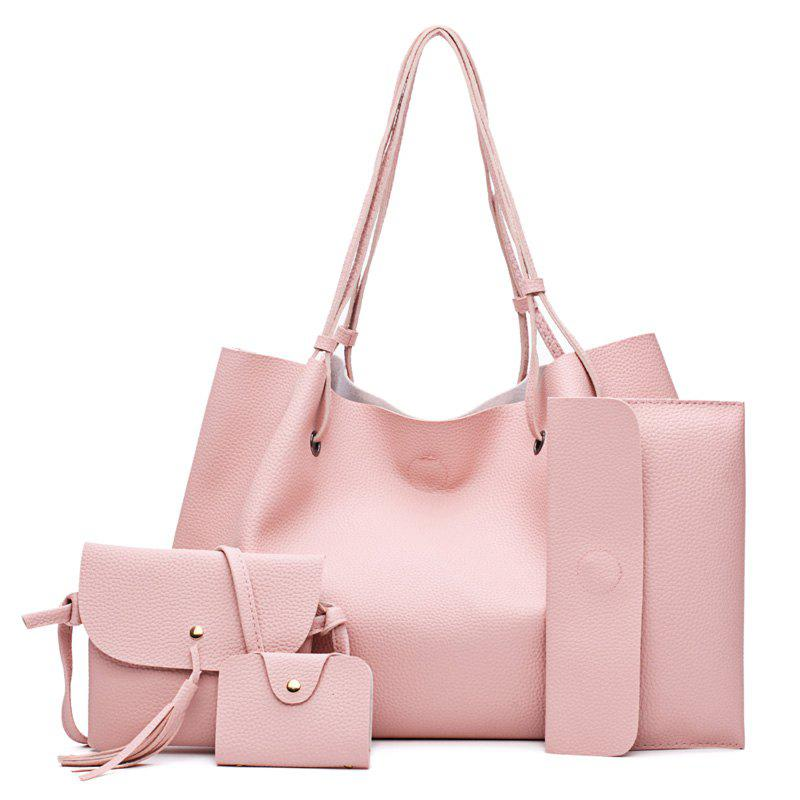 44546d2ae 2019 Fashionlitchi Grain Lady s Mother Bag Four Pieces Of Single ...