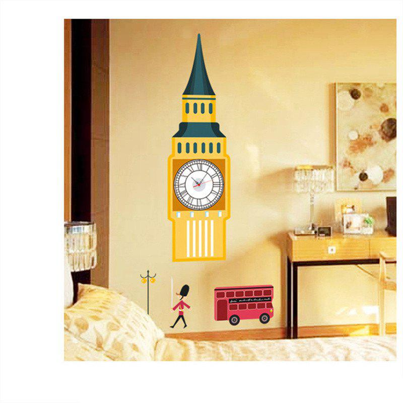 Outfits creative DIY Big Bell Tower Splicing Wall Stick Clock