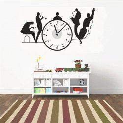 creative DIY Music Performance Splicing Wall Clock -