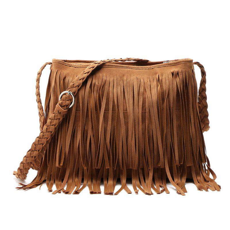 01094d14f7b6 Shops Faux Suede Fringe Tassel Shoulder Bag Women s fashion Handbag  Crossbody Bag Messenger Bags Four Colors