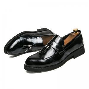 Men Shining Upper Edging Fashion Leather Shoes -