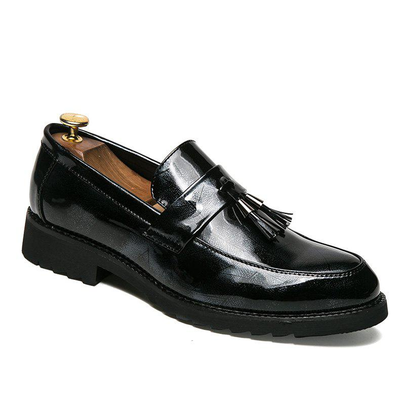 Buy Men Shining Upper Edging Fashion Leather Shoes