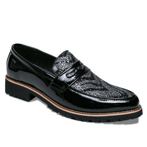 Affordable Men Fashion Mixed Color Leather Shoes