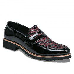 Hommes Mode Mixte Couleur Cuir Chaussures -