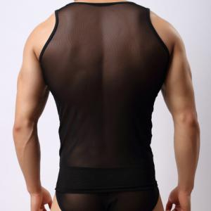 Men's Fashion Sexy Gauze Vest -