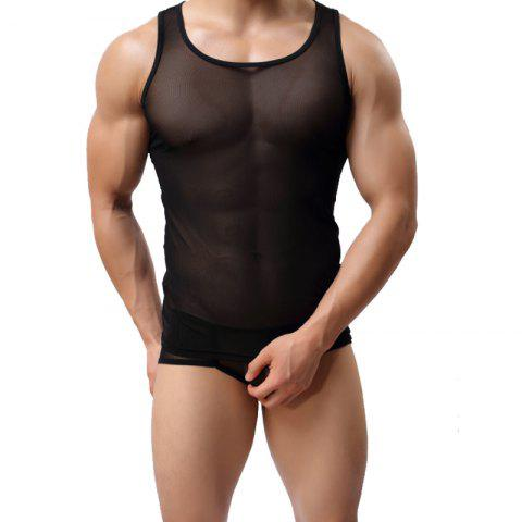 Affordable Men's Fashion Sexy Gauze Vest
