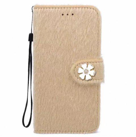Store Case For iPhone X Horse Hair Card Holder Wallet with Stand Flip Full Body Solid Color Flower Hard Genuine Leather