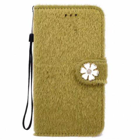 Discount Case For iPhone X Horse Hair Card Holder Wallet with Stand Flip Full Body Solid Color Flower Hard Genuine Leather