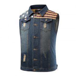 Vogue Pentagram Male Cowboy Vest and Sleeveless Jacket Male -