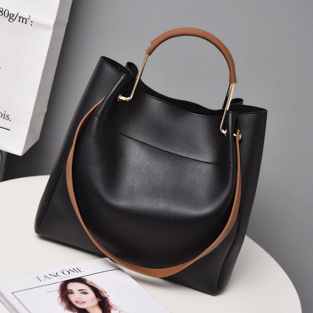 Outfits The new super - fiber leather handbag with a single shoulder slanted bag