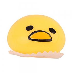 Cute Relief Toys Round Vomiting Sucking Lazy Egg Yolk Vent Stress Tricky Game Yellow -