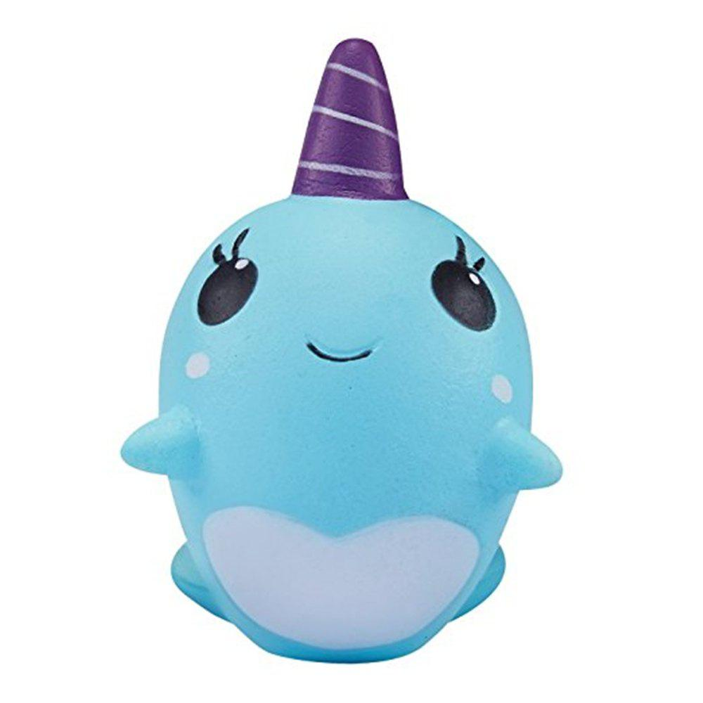 Trendy Decompression Toys Soft Cute Whale Cartoon Squishy Slow Rising Squeeze Toy Christmas Gift