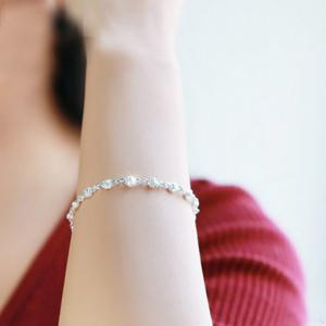 925 Sterling Silver  Bracelet Silver Chain Lady Women Jewelry -