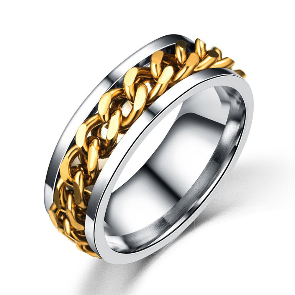 Unique Best Ring For Man Gift The Rings For Women and Men Unisex 316L Eternity Titanium Stainless Steel Men Chain Ring