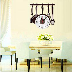 Creative DIY Cute Kitchenware Kitchen Spliced Wall Clock -