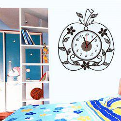 Creative DIY Apple Mosaic Wall Sticker Clock -