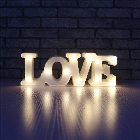 Chic YEDUO Romantic Small White LOVE Marquee Sign Night Lights For Home Wedding Decoration Valentine Gift