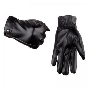 Touch Screen Men's Winter Leather Gloves Warm Cashmere and Thick Fashion Outdoor Cotton -
