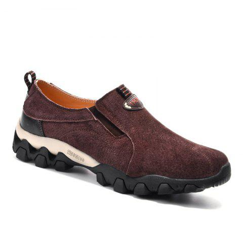 New Men Casual Trend for Fashion Leather Flat Outdoor Shoes