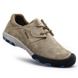 Men Casual Trend for Fashion Flat Lace Up Outdoor Leather Shoes -