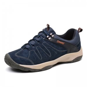 Men Casual Trend for Fashion Lace Up Flat Leather Outdoor Shoes -