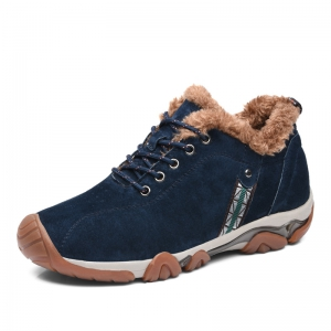 Men Casual Trend for Fashion Lace Up Outdoor Flat Leather Type Suede Shoes -