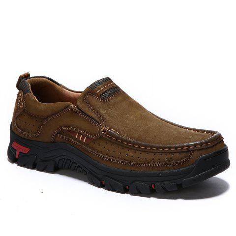 Affordable Men Casual Trend for Fashion Outdoor Hiking Flat Loafers Leather Shoes