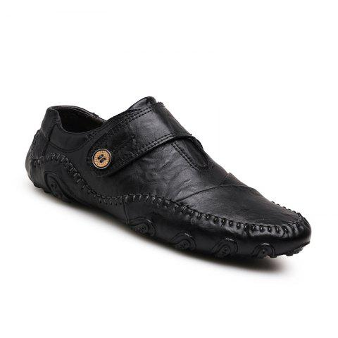 Cheap Men Casual Trend for Fashion Outdoor Hiking Flat Slip on Loafers Leather Shoes