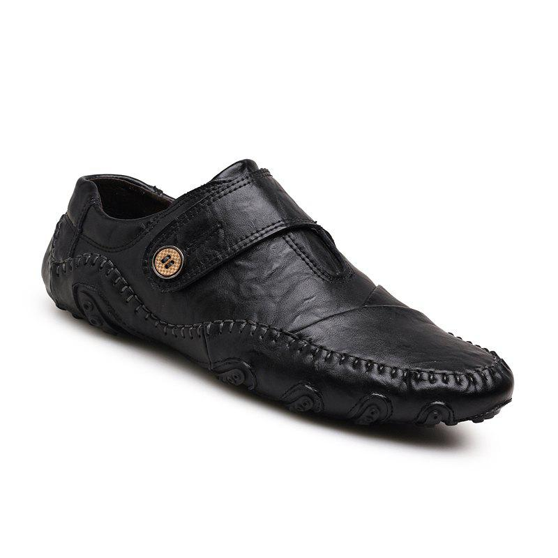 Unique Men Casual Trend for Fashion Outdoor Hiking Flat Slip on Loafers Leather Shoes