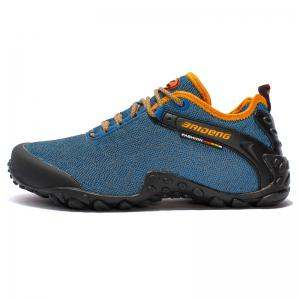 Men Casual Trend for Fashion Outdoor Hiking Flat Lace Up Breathable Flat Shoes -