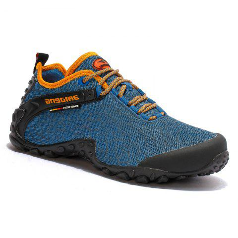 Discount Men Casual Trend for Fashion Outdoor Hiking Flat Lace Up Breathable Flat Shoes