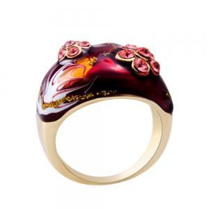 Women's Diamond Oil Painting Crystal Ring -