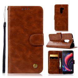 Luxurious Retro Fashion Flip Leather Case PU Wallet Cover Cases For HTC One X10 / E66 Smart Cover Phone Bag with Stand -