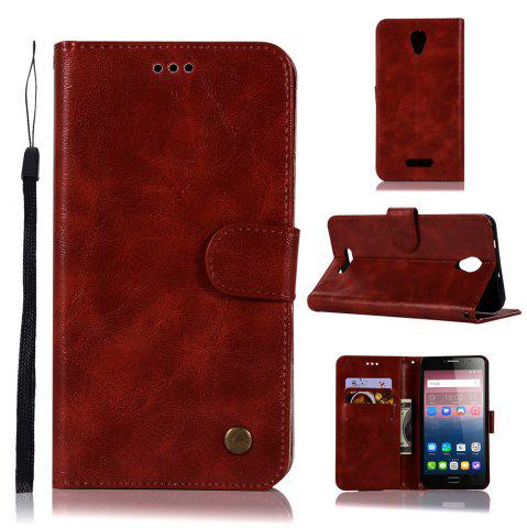 Online Retro Flip Leather Case PU Wallet Cover Cases For Alcatel Pop 4 Plus Case Fierce 4 5056 / 5056D 5.5 Phone Bag with Stand