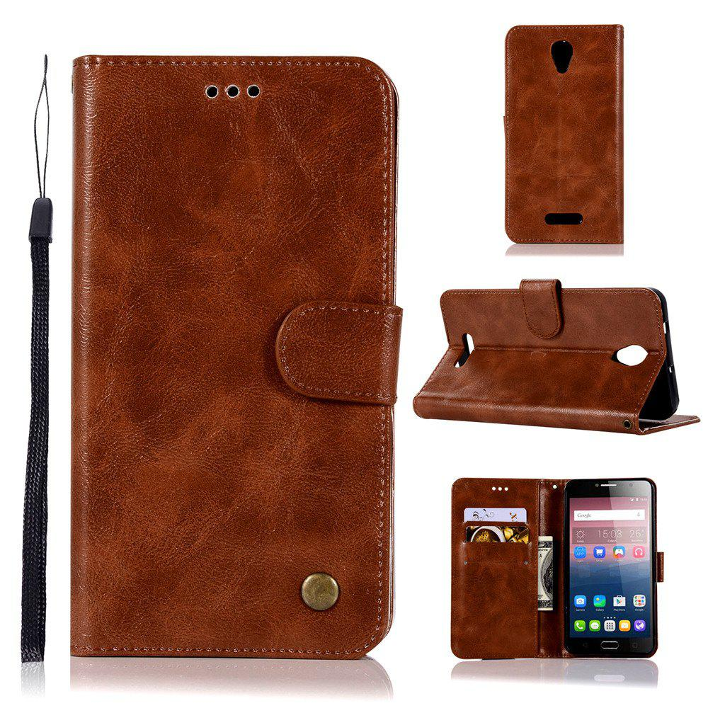 Trendy Retro Flip Leather Case PU Wallet Cover Cases For Alcatel Pop 4 Plus Case Fierce 4 5056 / 5056D 5.5 Phone Bag with Stand