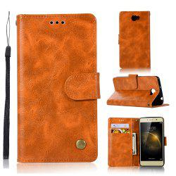 Luxurious Retro Fashion Flip Leather Case PU Wallet Cover Cases For Huawei Y5 II / Y5 2 Smart Cover Phone Bag with Stand -
