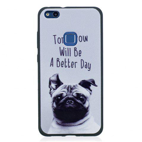 Fashion Phone Case for Huawei P10 Lite Pet Dog Fashion Cartoon Relief Soft Silicone TPU Cover Cases Protection Phone Bag