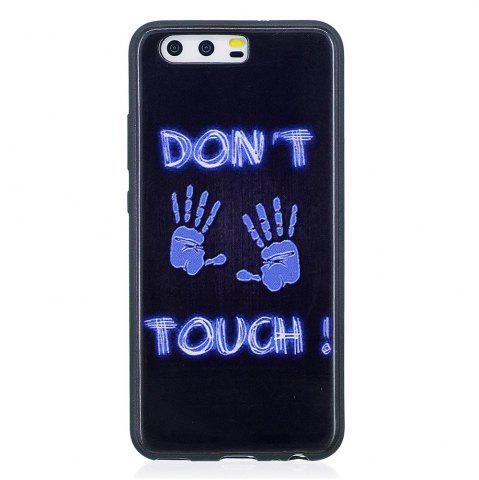Cheap Phone Case for Huawei P10 Fingerprint Fashion Cartoon Relief Soft Silicone TPU Cover Cases Protection Phone Bag
