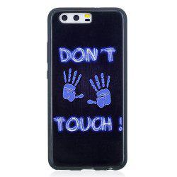 Phone Case for Huawei P10 Fingerprint Fashion Cartoon Relief Soft Silicone TPU Cover Cases Protection Phone Bag -