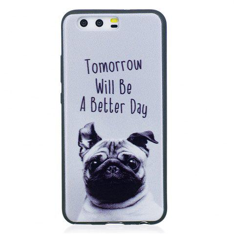 New Phone Case for Huawei P10 Pet Dog Fashion Cartoon Relief Soft Silicone TPU Cover Cases Protection Phone Bag