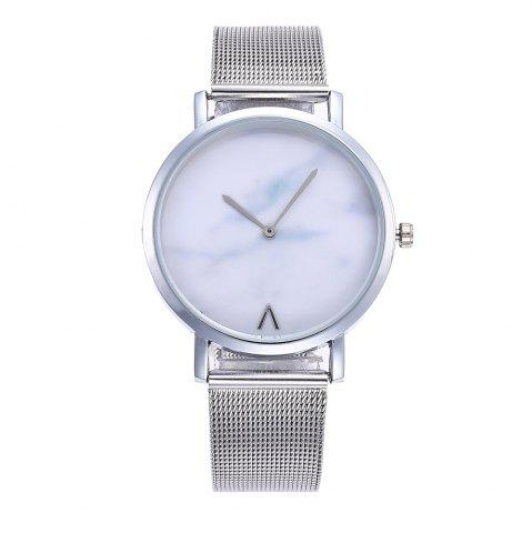 Shops Marbled V-Pattern Ladies Watch Mesh Strap with Gift Box