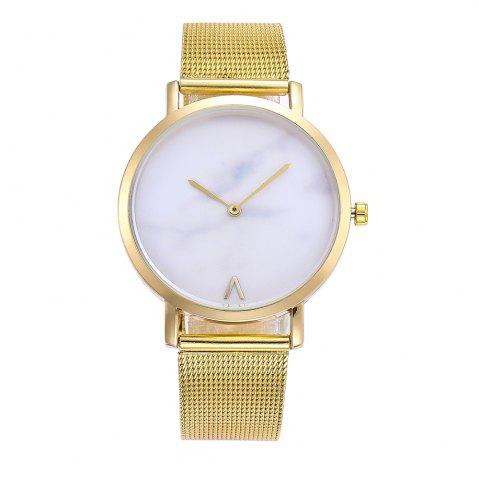 Outfits Marbled V-Pattern Ladies Watch Mesh Strap with Gift Box
