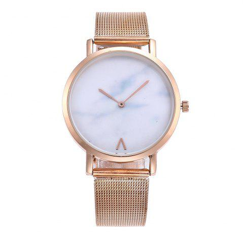 Outfit Marbled V-pattern Ladies Watch Mesh Strap with Gift Box