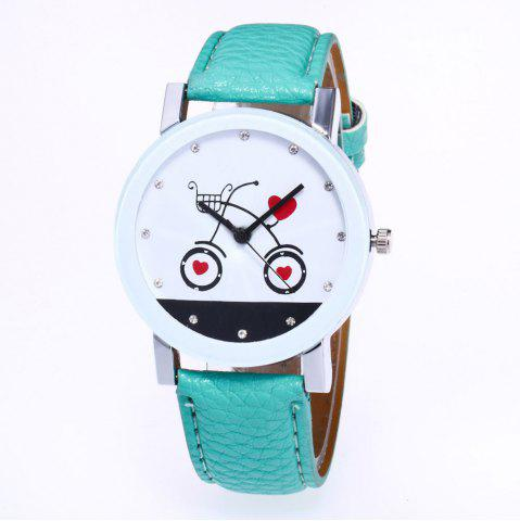 Outfits New Fashion Lychee Pattern Strap Lady Love Quartz Watch with Gift Box