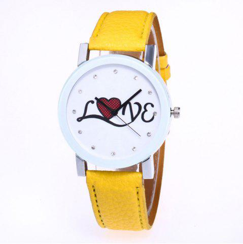 Outfit The New Fashion Trend of Lychee Pattern Strap Lady Classic Love Quartz Watch with Gift Box
