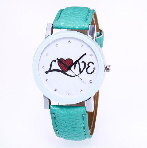 Shops The New Fashion Trend of Lychee Pattern Strap Lady Classic Love Quartz Watch with Gift Box
