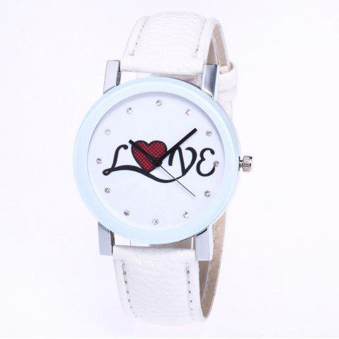 Shop The New Fashion Trend of Lychee Pattern Strap Lady Classic Love Quartz Watch with Gift Box