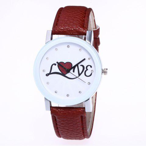 Online The New Fashion Trend of Lychee Pattern Strap Lady Classic Love Quartz Watch with Gift Box