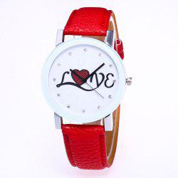 The New Fashion Trend of Lychee Pattern Strap Lady Classic Love Quartz Watch with Gift Box -